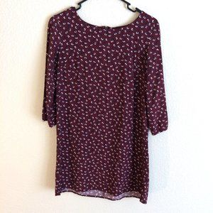 OLD NAVY Long Sleeve Burgundy Dress Tunic S